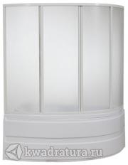 Шторка для ванны Bas Алегрa  (стекло Грейп/Шиншила)
