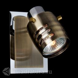 Настенный светильник (Бра) Eurosvet Leonardo 23463/1 хром / античная бронза