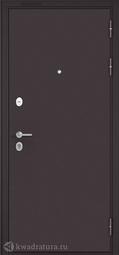 Дверь входная металлическая Бульдорс Mass 90 136 Букле шоколад / Ларче шоколад
