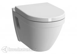 Унитаз подвесной Vitra S50, Rim-ex, безободковый 7740В003-0075 с сиденьем микролифт 110-003-009