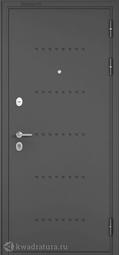 Дверь входная металлическая Бульдорс Mass 90 CR-4 Букле графит / Ларче бьянко (Белый лакобель)