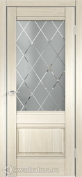 Межкомнатная дверь Velldoris (Веллдорис) ALTO 2V Ясень японский, стекло Ромб