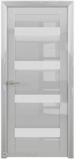 Межкомнатная дверь Фрегат (ALBERO) Барселона Глянец белый, стекло белое