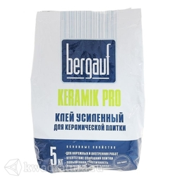 БЕРГАУФ Клей усиленный для плитки Керамик Про (5кг)