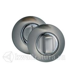 Дверная завертка Puerto круглая, никель матовый/никель блестящий
