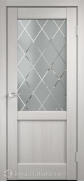 Межкомнатная дверь Велдорис Classico 3 2V дуб белый поперечный