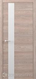 Межкомнатная дверь Фрегат (ALBERO) Status G Дуб карамельный, стекло белое