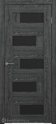 Межкомнатная дверь Фрегат (ALBERO) Гаванна черное дерево, стекло черное