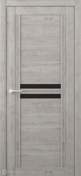 Межкомнатная дверь Фрегат (ALBERO) Каролина Графит стекло черное