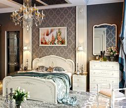 Двуспальная кровать с подъёмным механизмом «Лорена» (Штрихлак) без матраса ТР