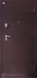 Дверь входная металлическая Лидер 2 шелк бордо/беленый дуб