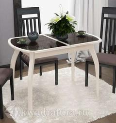 Обеденный стол раздвижной на деревянных ножках Ницца Т15 вариант 7 ТР