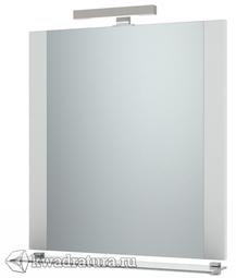 Зеркало Triton Ника 90 см подсветка, с полочкой