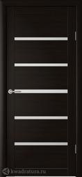 Межкомнатная дверь Фрегат (ALBERO) Вена Кипарис Темный, стекло мателюкс