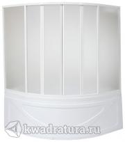 Шторка для ванны Bas Хатива  6 створок (пластик Вотер, Космос)